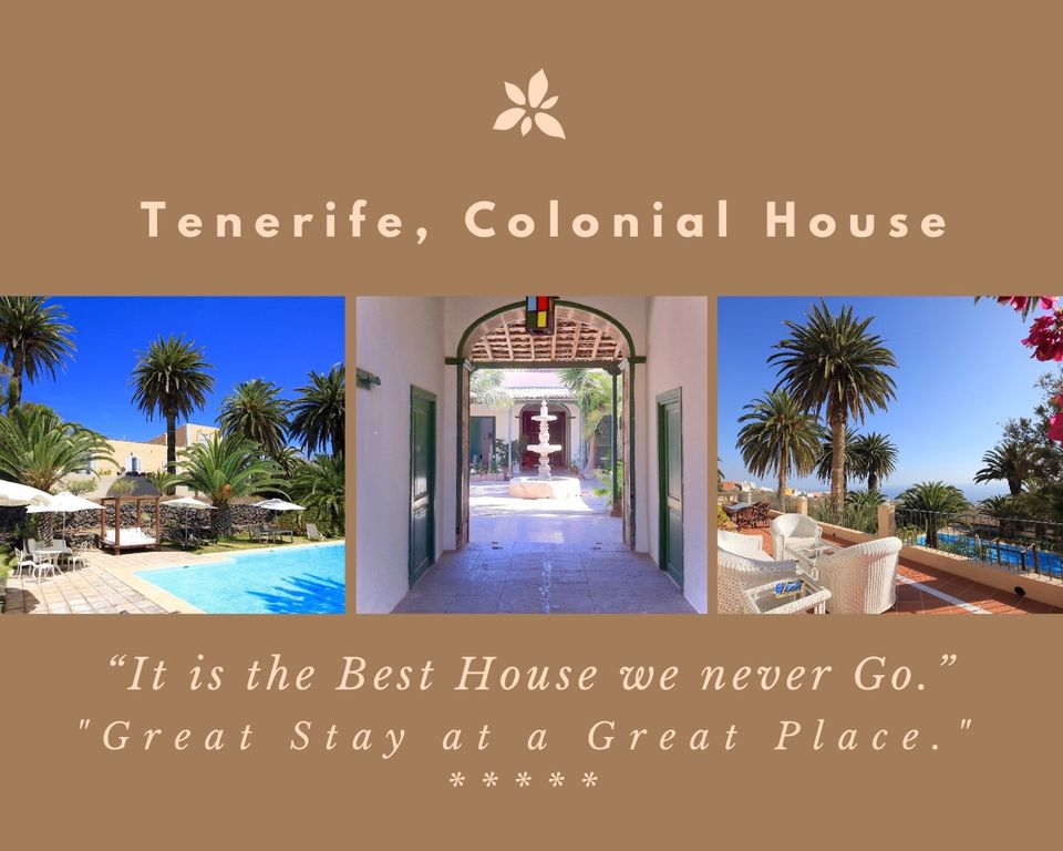 "Ideal Tenerife Bienvenue à la ""Casa Colonial"""